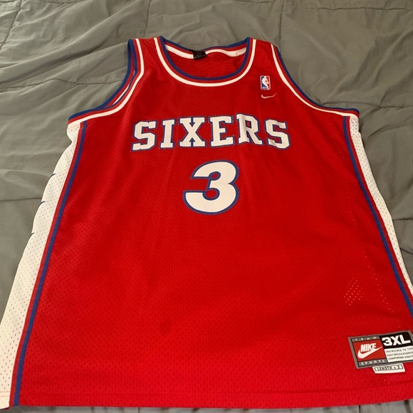 on sale 47ab3 88a69 Allen Iverson throwback 76ers jersey